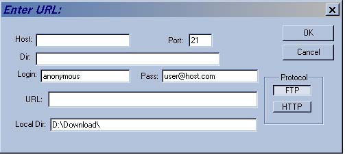 GetSmart - Entering a URL manually screen shot